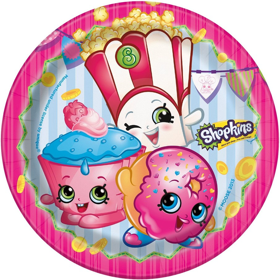 """View larger image of Shopkins 7"""" Cake Plates (8 Count)"""