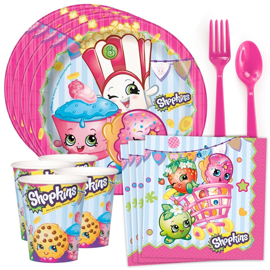View larger image of Shopkins Birthday Standard Tableware Kit (Serves 8)