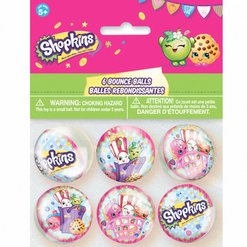 Shopkins Bounce Balls (6 Count)
