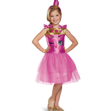 Shopkins Lippy Lips Classic Girl's Costume
