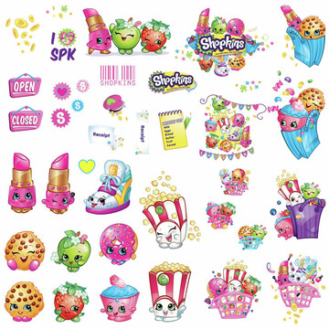 Shopkins Peel and Stick Wall Decals (39 Pieces)
