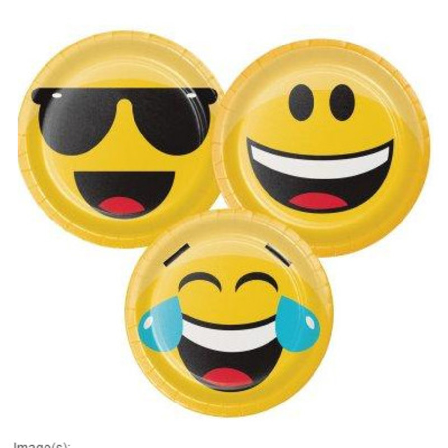 "View larger image of Show Your Emojions 7"" Dessert Plates (8)"