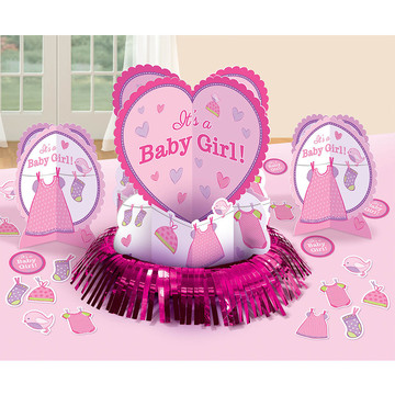 Shower With Love Baby Girl Table Decorating Kit (Each)