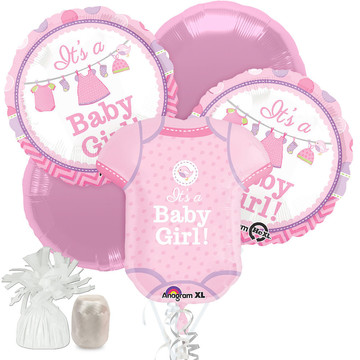 Shower With Love Girl Baby Shower Balloon Bouquet Kit