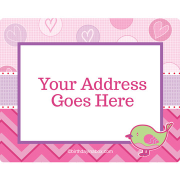 Shower With Love Pink Personalized Address Labels (Sheet of 15)