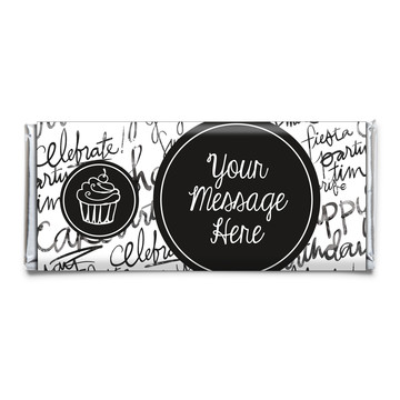 Signature Birthday Personalized Candy Bar Wrapper (Each)