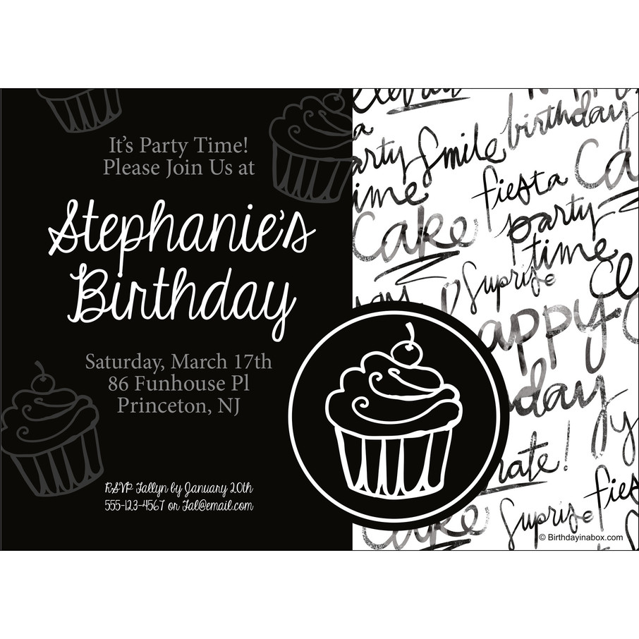 View larger image of Signature Birthday Personalized Invitation (Each)