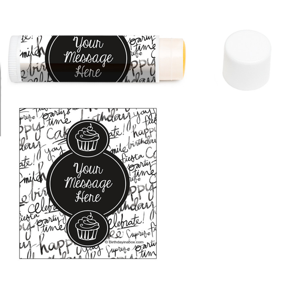 View larger image of Signature Birthday Personalized Lip Balm (12 Pack)