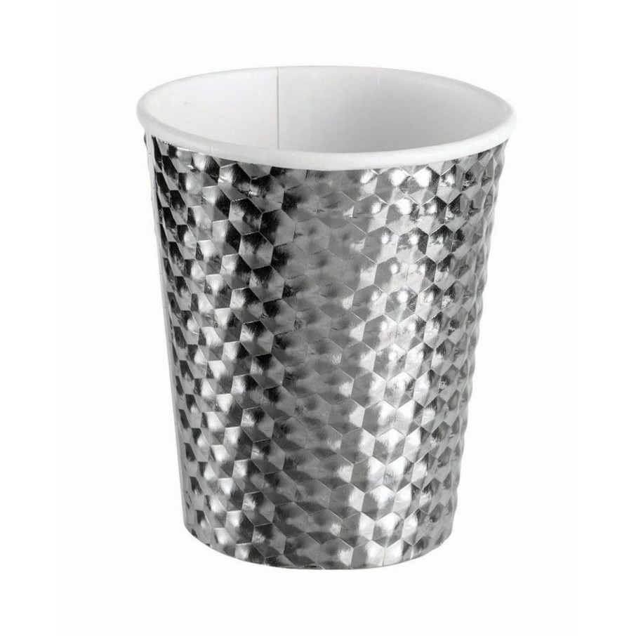 View larger image of Silver 8oz Paper Cup, 8ct