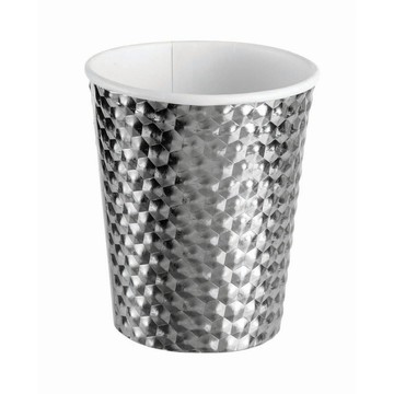 Silver 8oz Paper Cup, 8ct