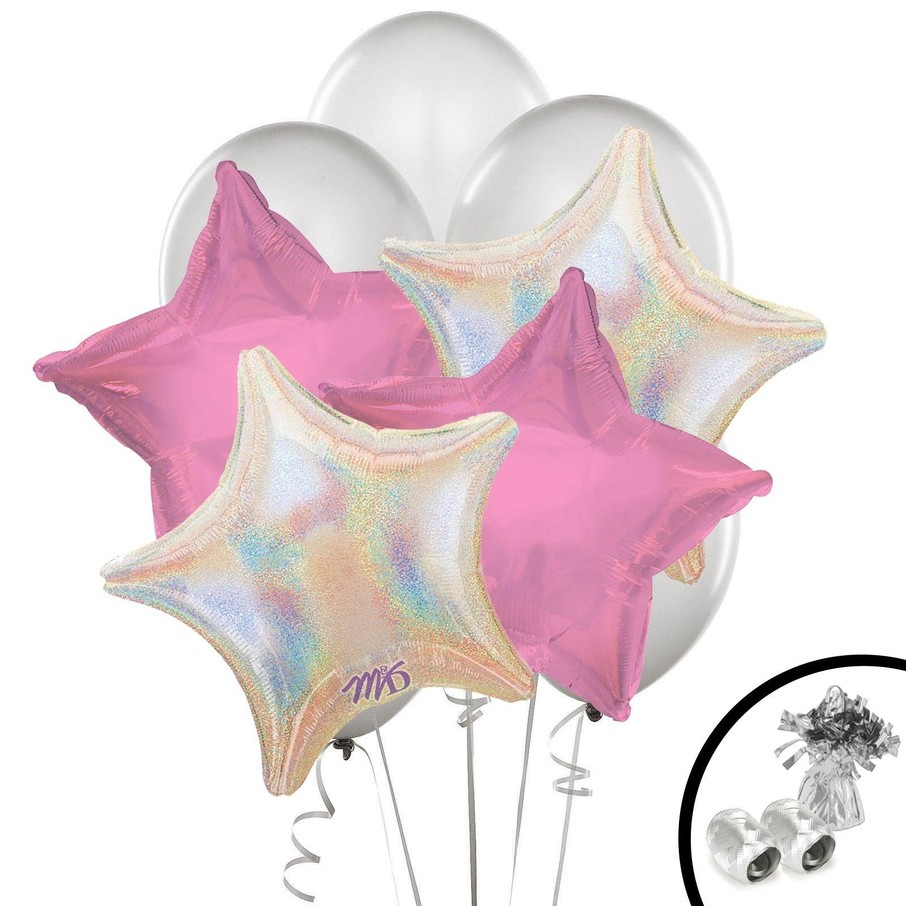 View larger image of Silver and Pink Balloon Bouquet