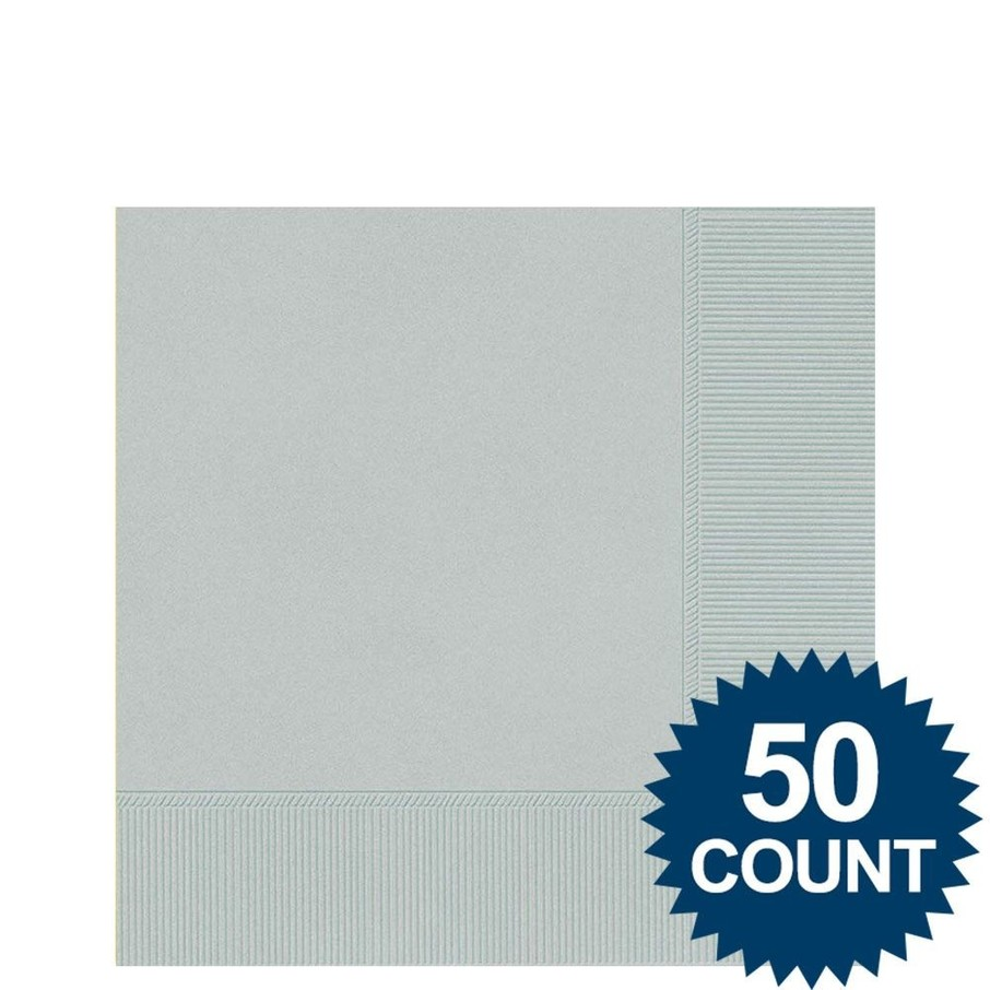 View larger image of Silver Beverage Napkins (50 Pack)