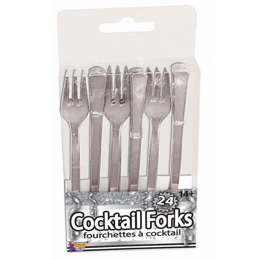 View larger image of Silver Cocktail Forks, 24ct
