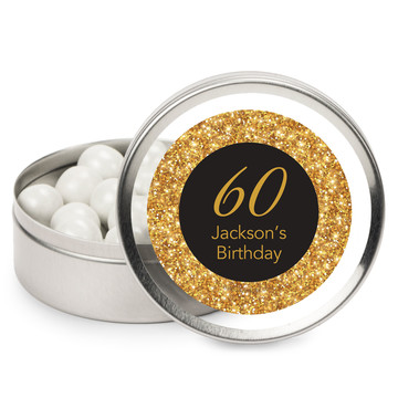 Silver & Gold Personalized Mint Tins (12 Pack)