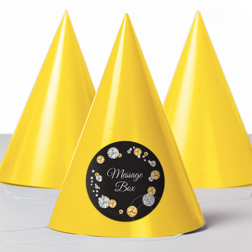 Silver & Gold Personalized Party Hats (8 Count)