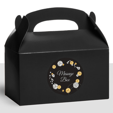 Silver & Gold Personalized Treat Favor Boxes (12 Count)