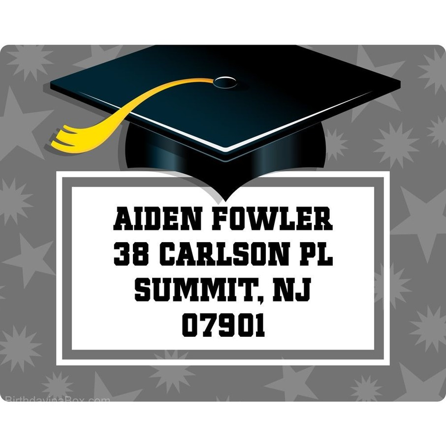 View larger image of Silver Grad Personalized Address Labels (Sheet of 15)