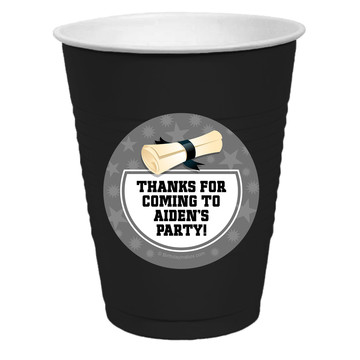 Silver Grad Personalized Party Cups, 50ct