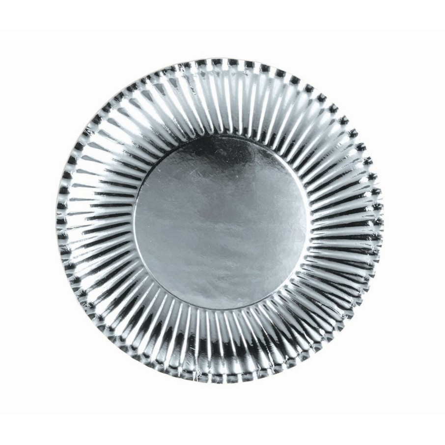 View larger image of Silver Lunch Paper Plates, 10ct