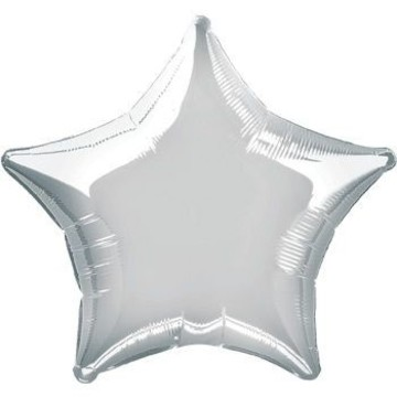 Silver Mylar Star Balloon (each)