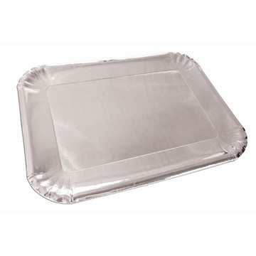 Silver Paper Platters, 4ct