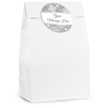 Silver Snowflake Personalized Favor Bag (12 Pack)