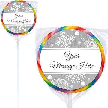 Silver Snowflake Personalized Lollipops (12 Pack)
