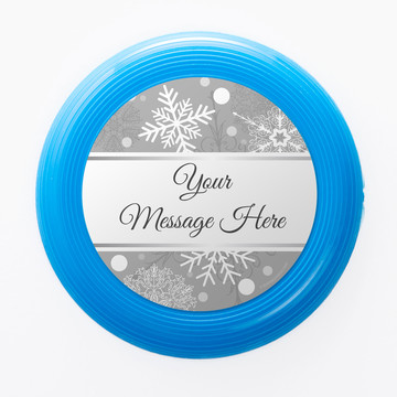 Silver Snowflake Personalized Mini Discs (Set of 12)