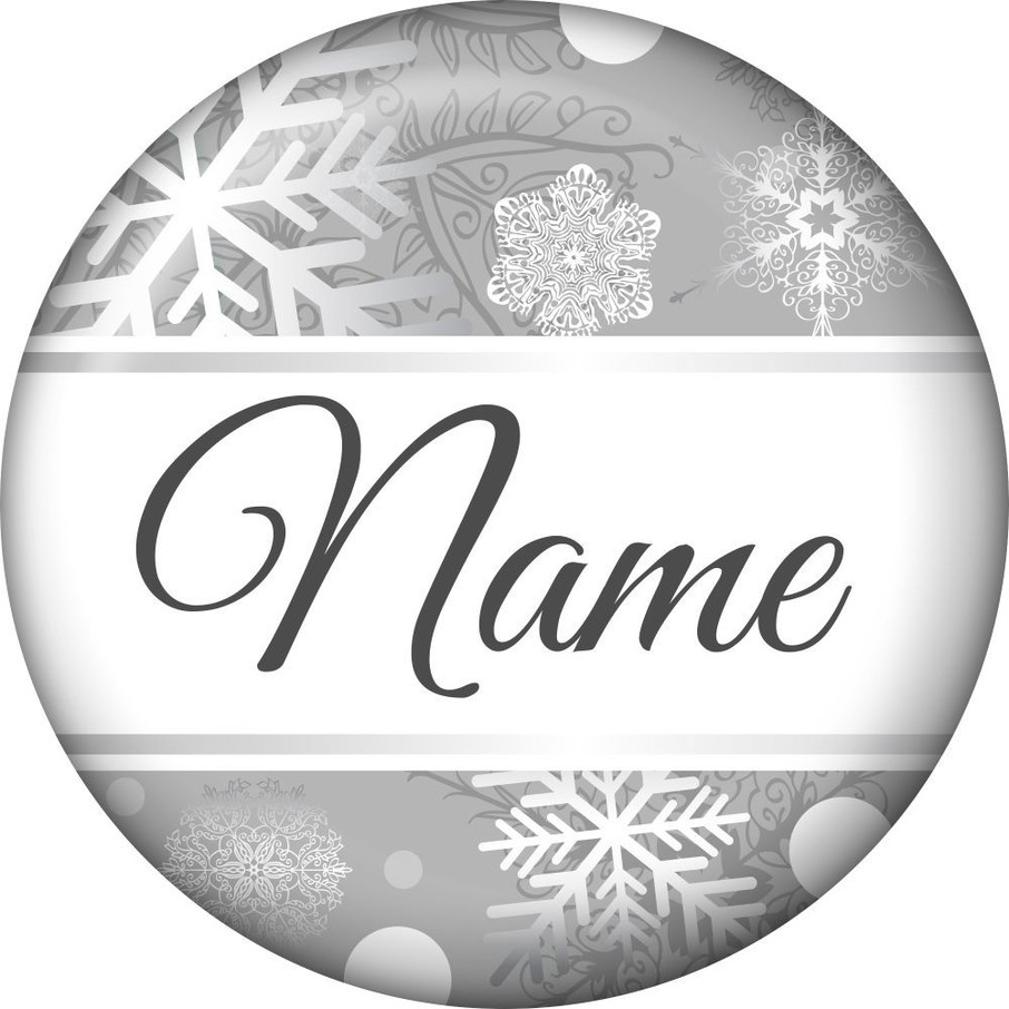 View larger image of Silver Snowflake Personalized Mini Magnet (Each)