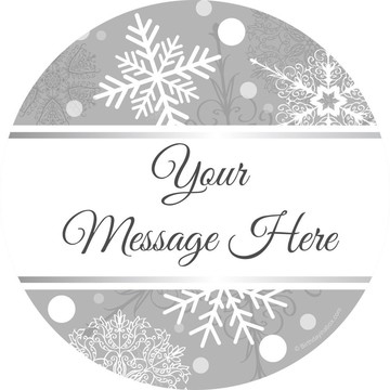 Silver Snowflake Personalized Mini Stickers (Sheet of 24)