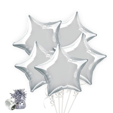 Silver Star Balloon Bouquet Kit