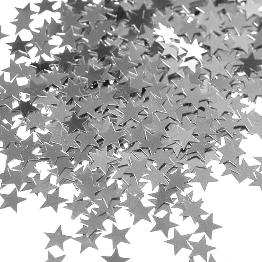 View larger image of Silver Stars Foil Confetti .5oz (Each)