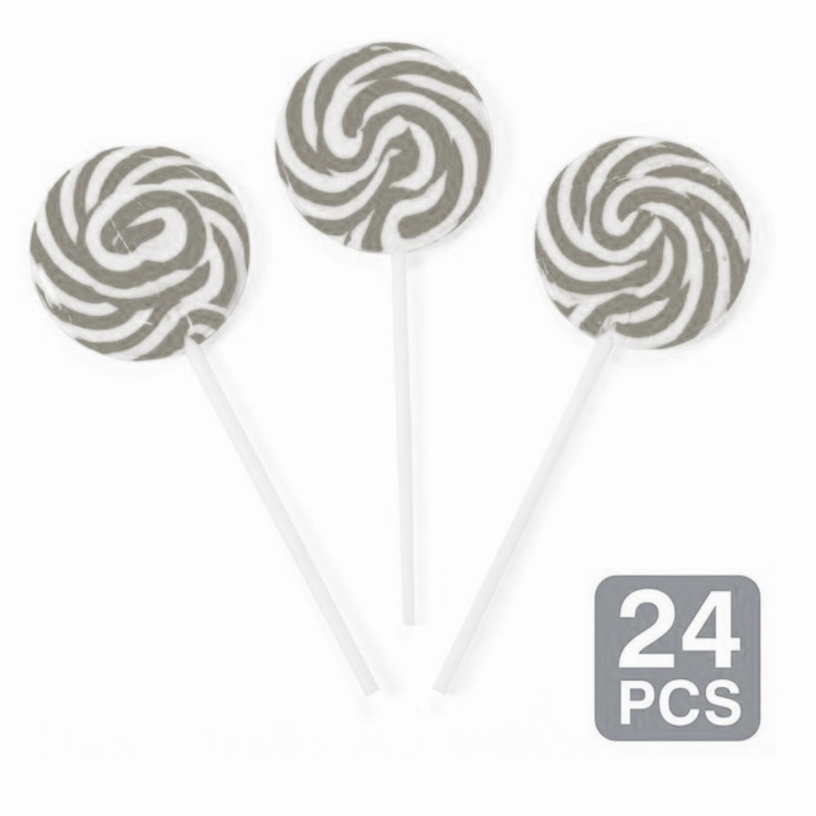 "View larger image of Silver Swirl 2"" Lollipops (24 Pack)"