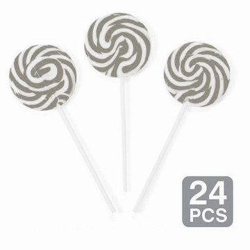 "Silver Swirl 2"" Lollipops (24 Pack)"