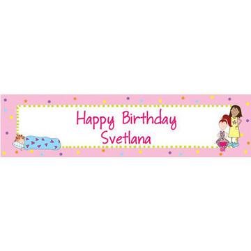 Sleepover Personalized Banner (each)