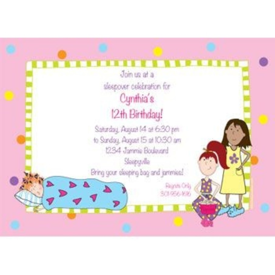 View larger image of Sleepover Personalized Invitation (each)