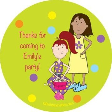 Sleepover Personalized Stickers (sheet of 12)