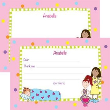 Sleepover Personalized Thank You Note (each)