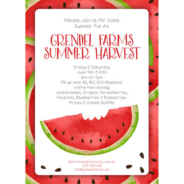 Slice of Summer Personalized Invitation (Each)