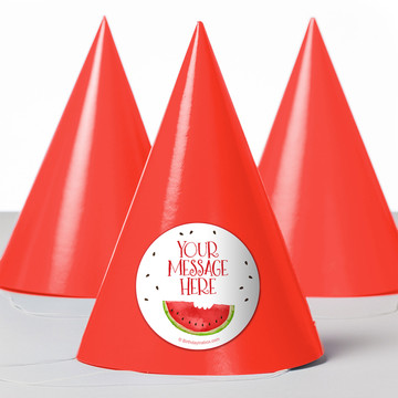 Slice of Summer Personalized Party Hats (8 Count)
