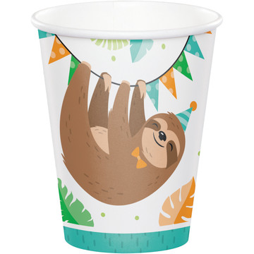 Sloth 9oz Paper Cups (8)