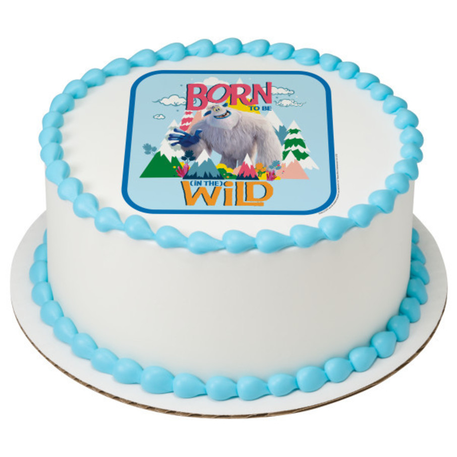 """View larger image of Small Foot 7.5"""" Round Edible Cake Topper (Each)"""