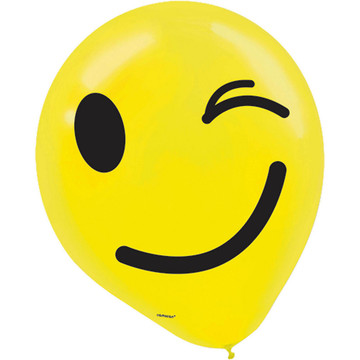 Smiley Latex Balloons (6)