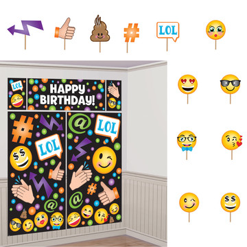 Smiley Photo Booth Kit (17 Pieces)