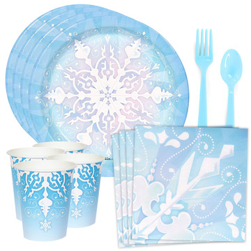 Snowflake Wonderland Standard Tableware Kit (Serves 8)