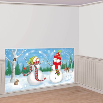 Snowman Scene Setter Wall Decorating Kit (Each)