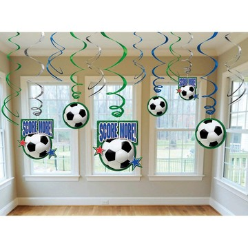 Soccer Hanging Swirl Decorations (Each)