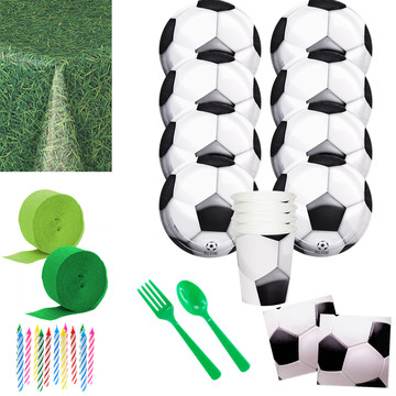 Soccer Party Deluxe Tableware Kit (Serves 8)