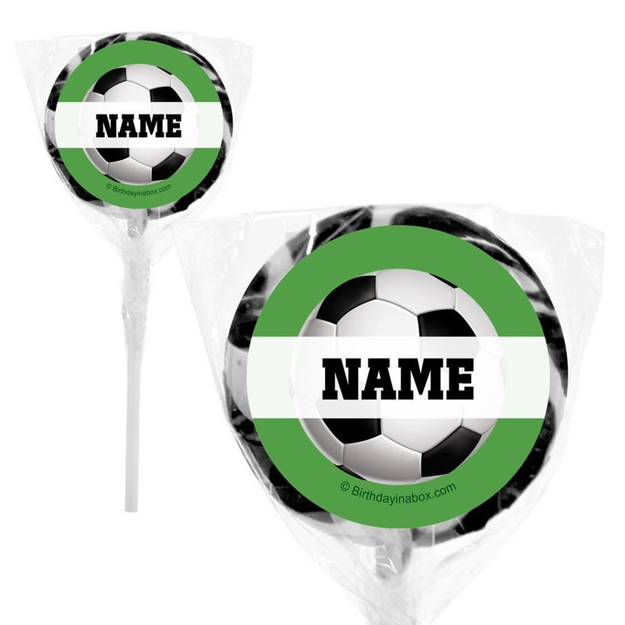 """View larger image of Soccer Party Personalized 2"""" Lollipops (20 Pack)"""