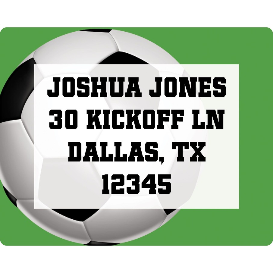 View larger image of Soccer Party Personalized Address Label